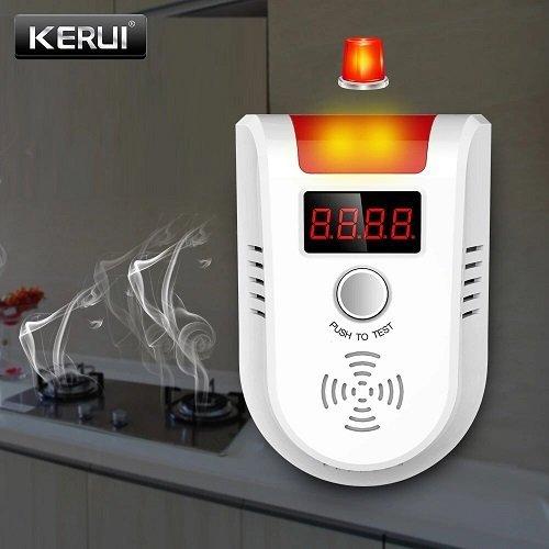 Беспроводной детектор утечки природного газа (метан, пропан) 433 МГц, со светодиодным дисплеем для gsm сигнализации KERUI