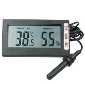 Цифровой термометр - гигрометр с ЖК дисплеем, выносным датчиком и функцией памяти
