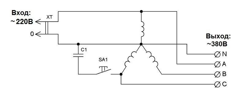 Использование асинхронного электродвигателя в качестве генератора