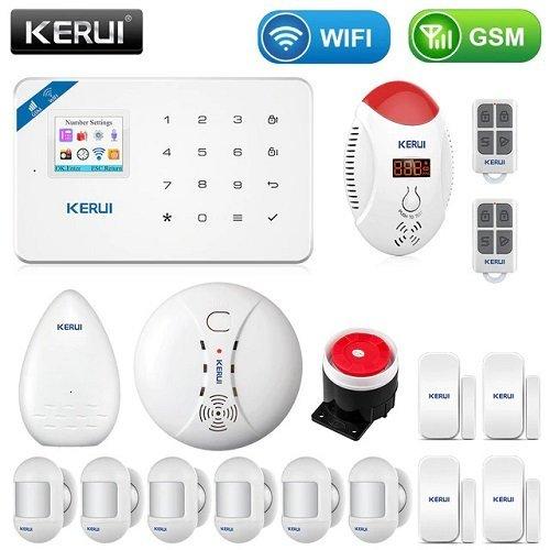 Комплект GSM / WIFI сигнализации для самостоятельной установки с беспроводными датчиками KERUI W18