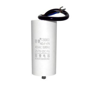 Пусковой конденсатор переменного тока CBB60 номинальной ёмкостью от 4 мкФ до 100 мкФ - 450 В