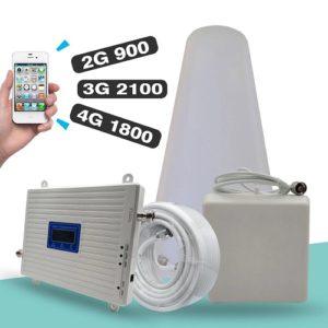 Усилитель сигнала мобильного интернета LTE 2G 3G 4G 800 900 1800 2100 МГц, ретранслятор сотовой связи GSM DCS WCDMA B1 B3 B8 B20